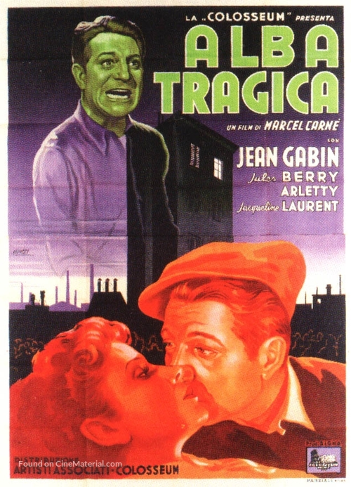 Le jour se lève - Italian Movie Poster