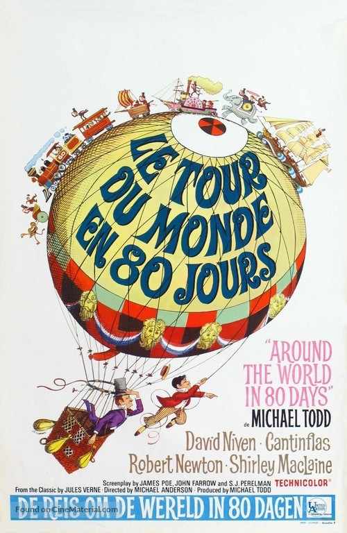 Around the World in Eighty Days - Belgian Movie Poster