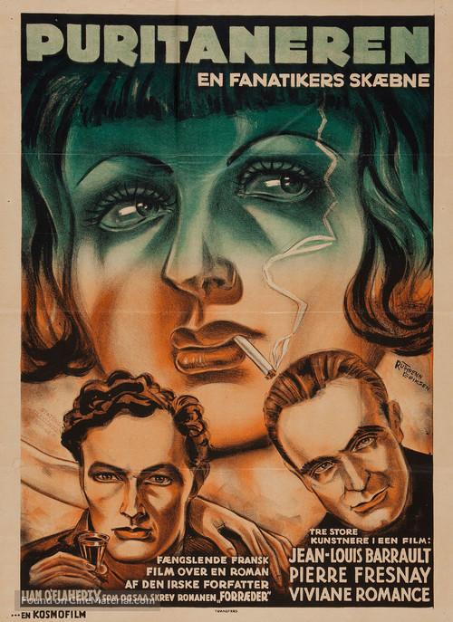 Le puritain - Danish Movie Poster