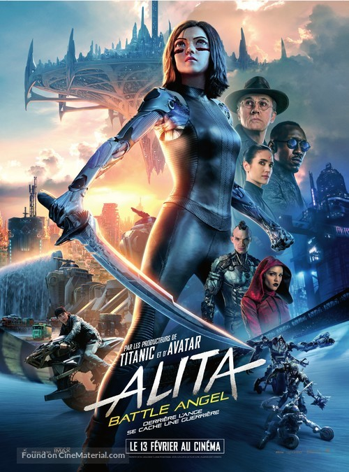 Alita: Battle Angel - French Movie Poster