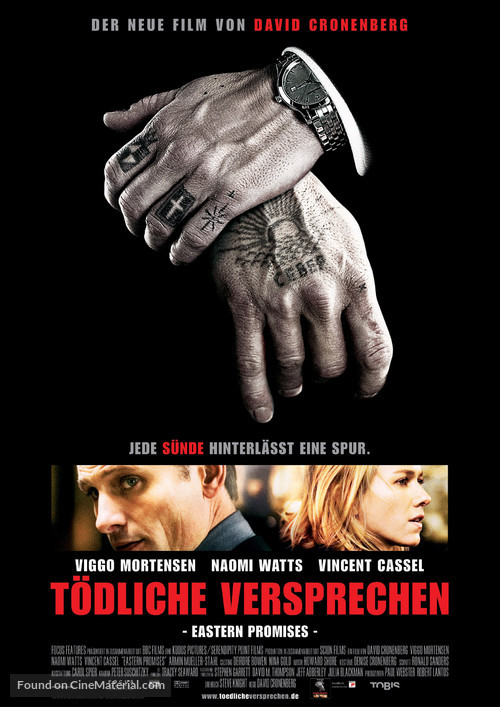 Eastern Promises - German Movie Poster
