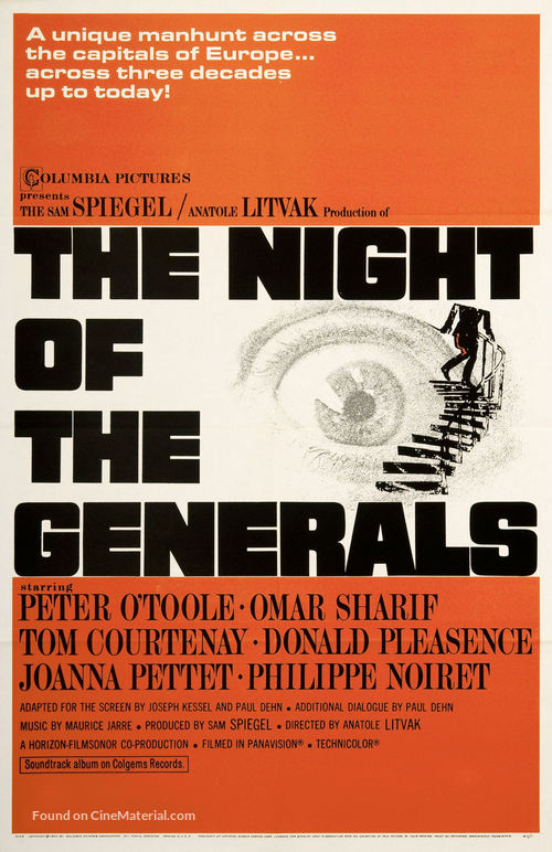 The Night of the Generals - Movie Poster