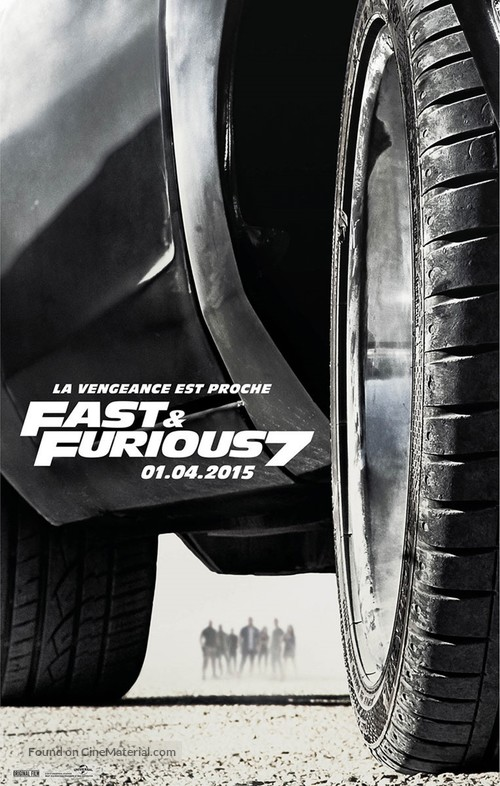 Furious 7 - French Movie Poster