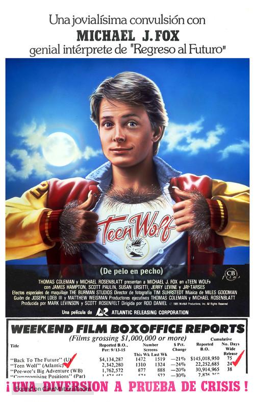 Teen Wolf - Spanish Movie Poster