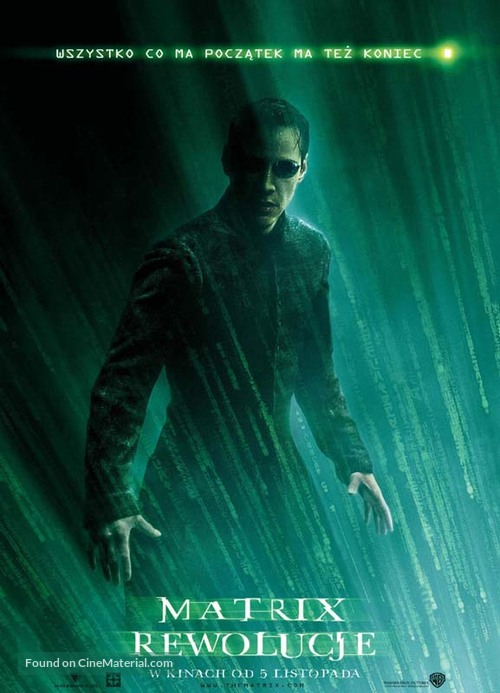 The Matrix Revolutions - Polish Movie Poster