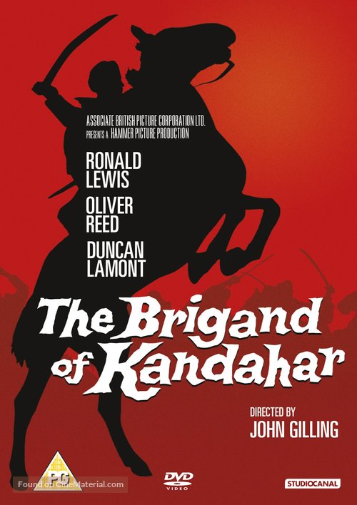The Brigand of Kandahar - British DVD movie cover
