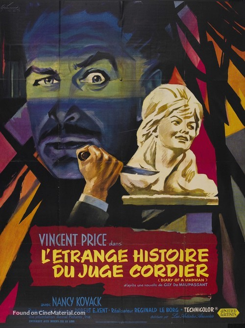 Diary of a Madman - French Movie Poster