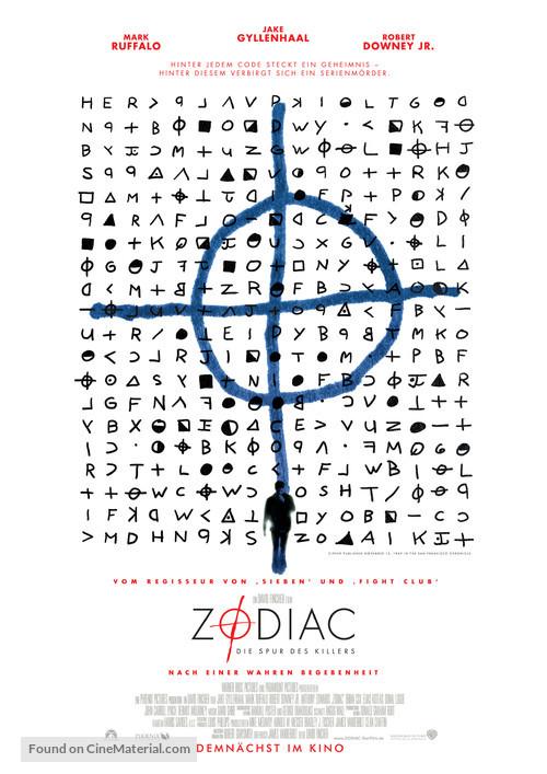 Zodiac - German Movie Poster