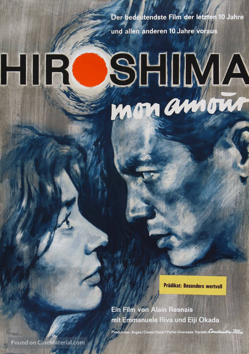 Hiroshima mon amour - German Movie Poster