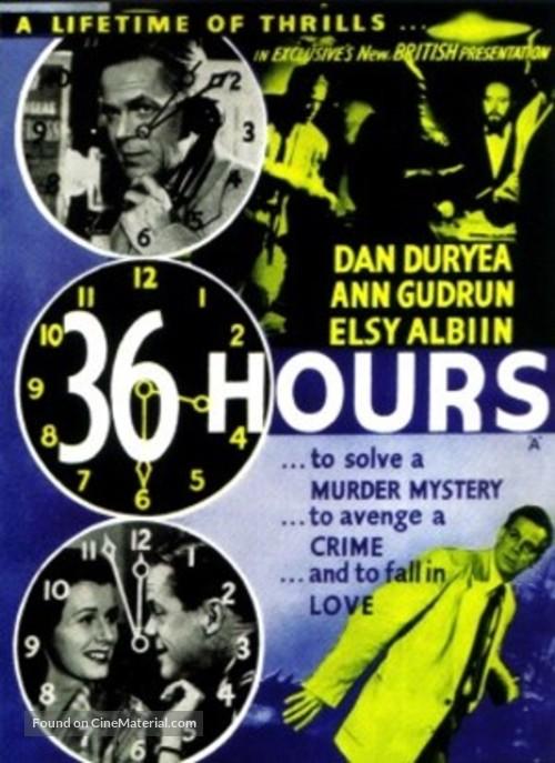 36 Hours - British Movie Poster