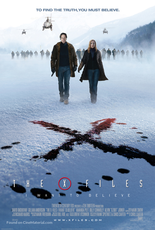 The X Files: I Want to Believe - Movie Poster