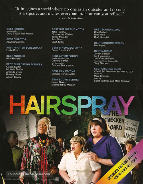 Hairspray - For your consideration movie poster