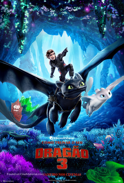 How to Train Your Dragon: The Hidden World - Brazilian Movie Poster