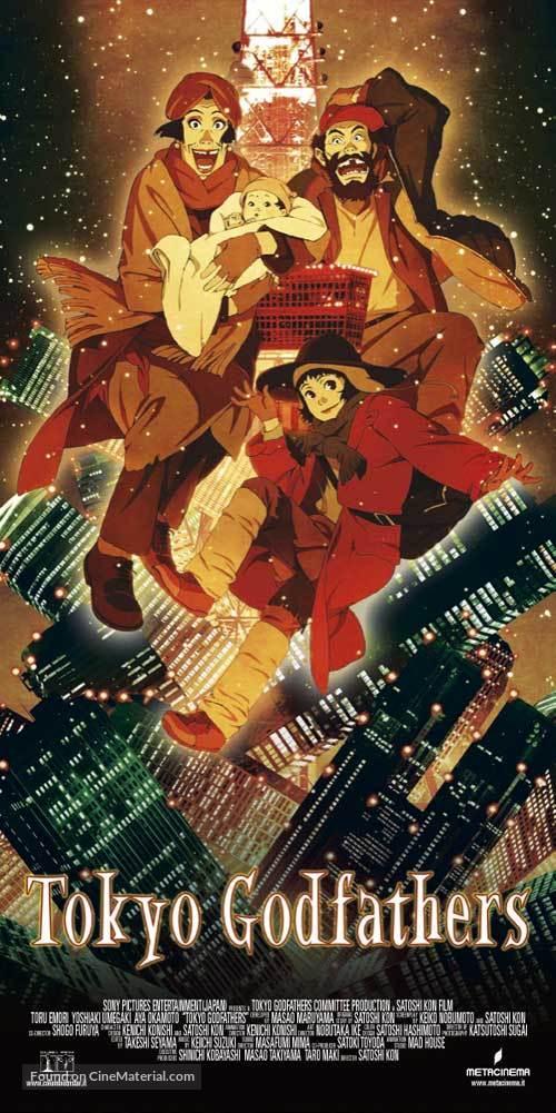 Tokyo Godfathers - Italian Movie Poster