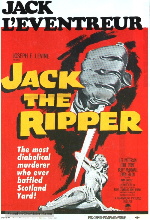 Jack the Ripper - Canadian Movie Poster