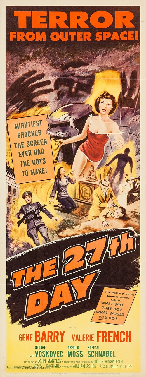 The 27th Day - Movie Poster