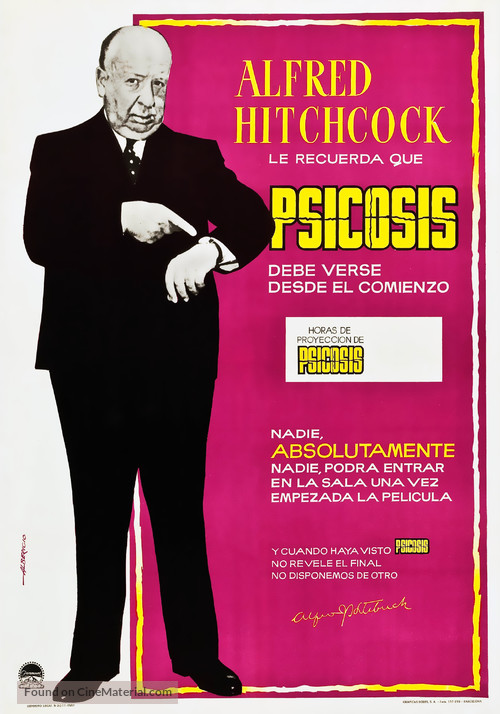 Psycho - Spanish Movie Poster