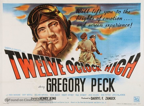 Twelve O'Clock High - British Theatrical poster