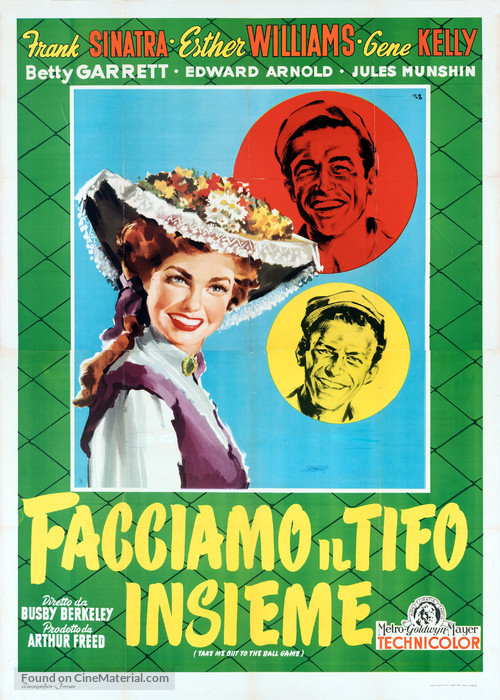 Take Me Out to the Ball Game - Italian Movie Poster