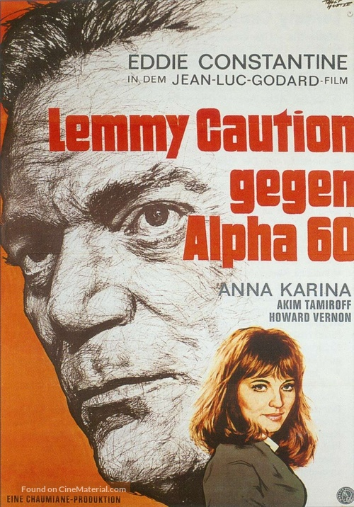 Alphaville, une étrange aventure de Lemmy Caution - German Movie Poster