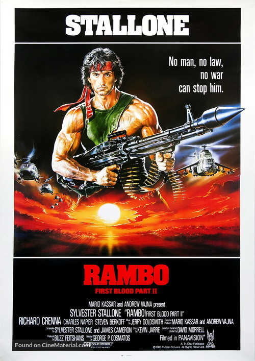 Rambo First Blood Part Ii 1985 Movie Poster