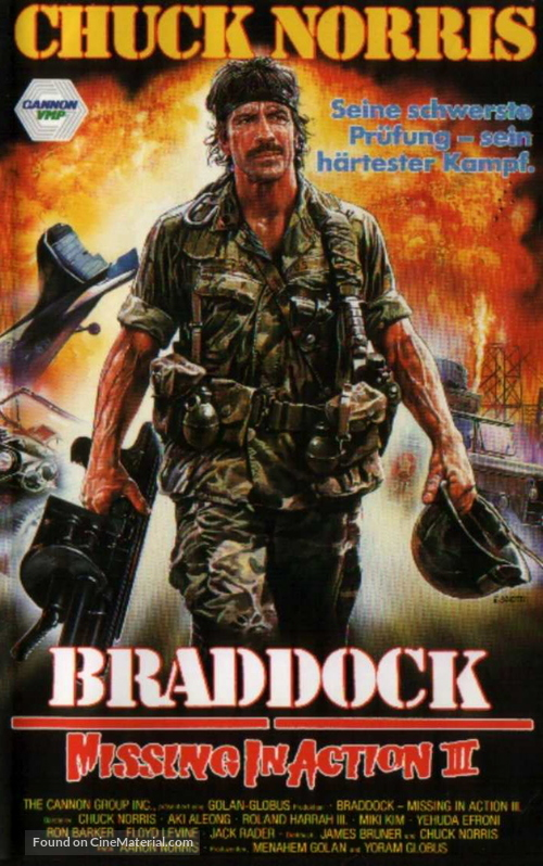 Braddock: Missing In Action III   German Movie Cover  Missing In Action Poster