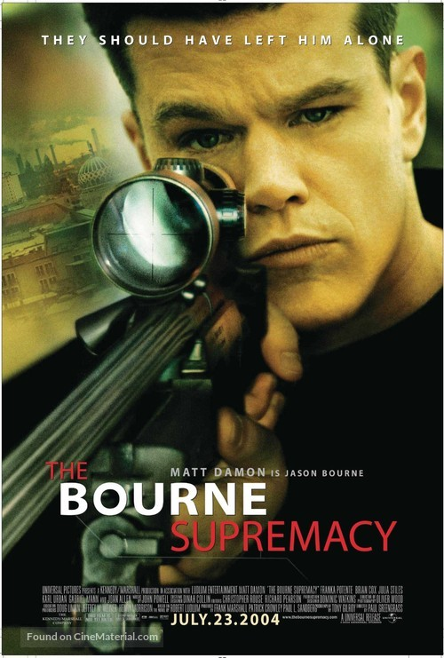The Bourne Supremacy - Movie Poster