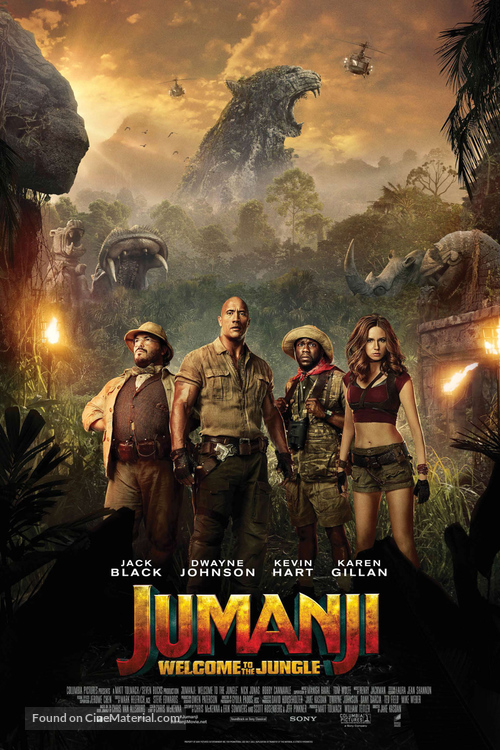 Jumanji: Welcome to the Jungle - Danish Movie Poster