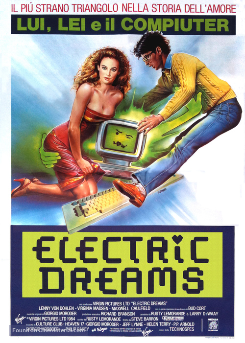 Electric Dreams - Italian Theatrical poster