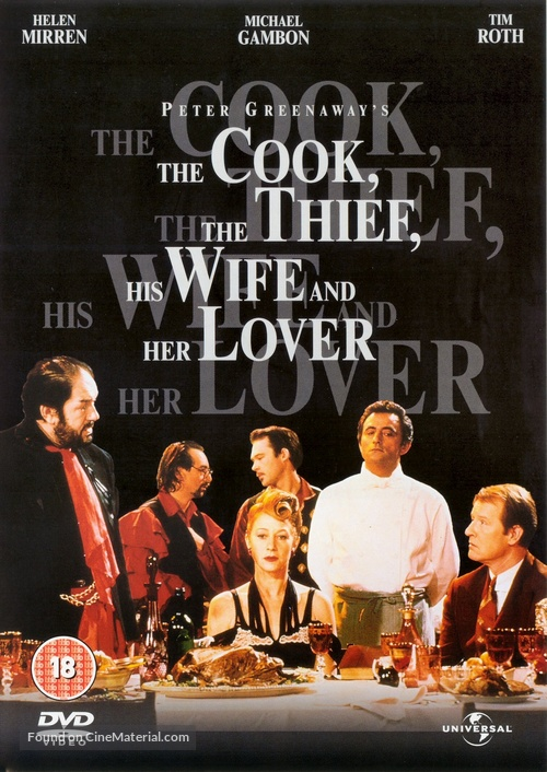 The Cook the Thief His Wife & Her Lover - British DVD movie cover