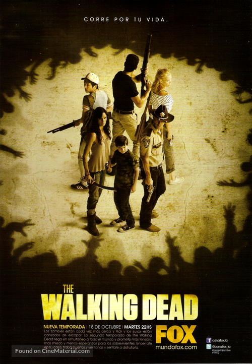 """The Walking Dead"" - Argentinian Movie Poster"