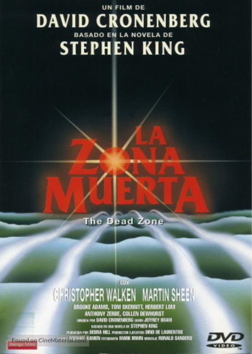 The Dead Zone - Argentinian DVD movie cover