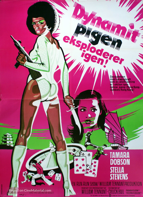 Cleopatra Jones And The Casino Of Gold 1975 Danish Movie Poster