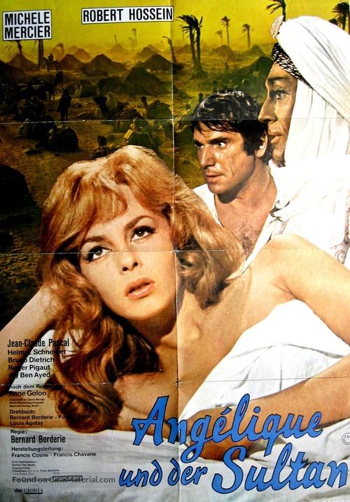 Angélique et le sultan - German Movie Poster