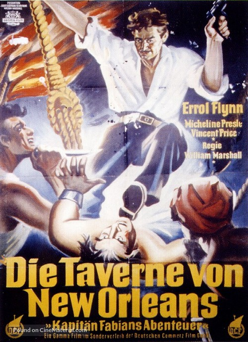 Adventures of Captain Fabian - German Movie Poster