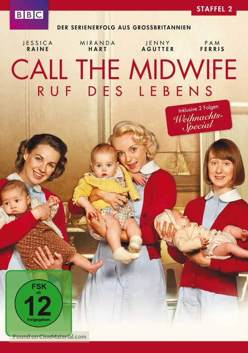 """""""Call the Midwife"""" - German DVD movie cover"""