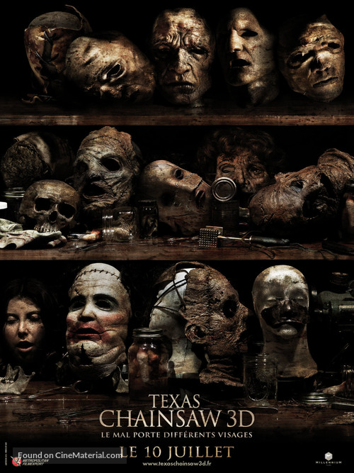Texas Chainsaw Massacre 3D - French Movie Poster