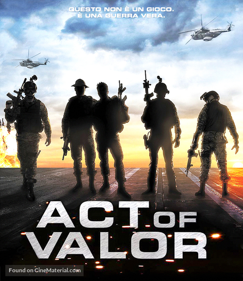 Act of Valor - Italian Blu-Ray movie cover