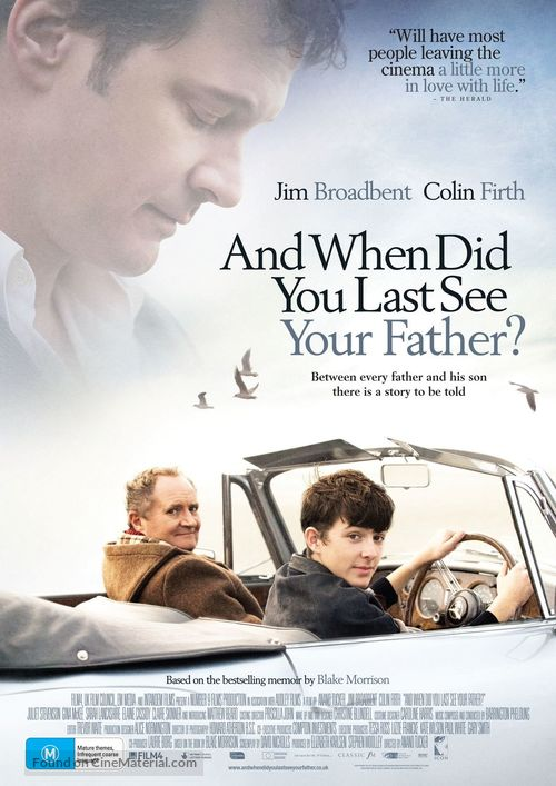 And When Did You Last See Your Father? - Australian Movie Poster