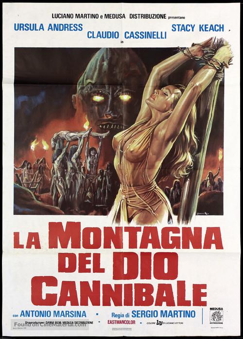 La montagna del dio cannibale - Italian Movie Poster