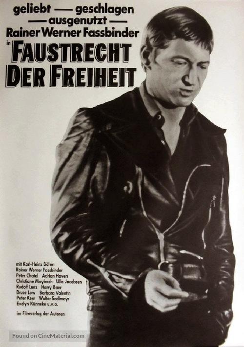 Faustrecht der Freiheit - German Movie Poster