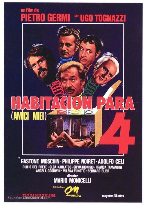 Amici miei - Spanish Movie Poster