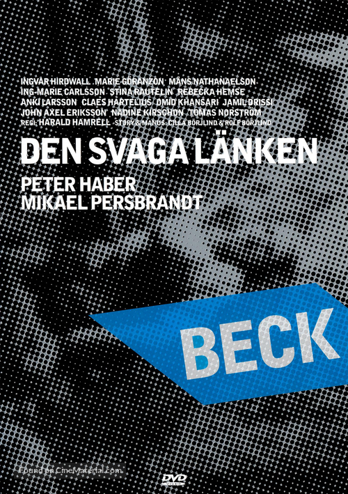 """Beck"" Den svaga länken - Swedish poster"