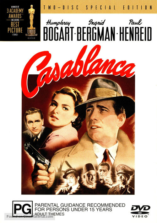 Casablanca - Australian DVD movie cover