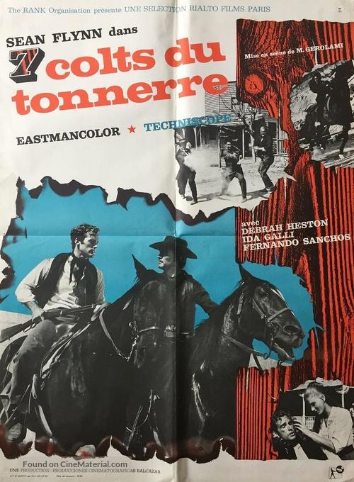 7 magnifiche pistole - French Movie Poster