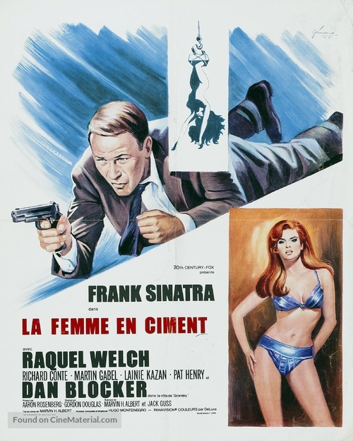 Lady in Cement - French Movie Poster