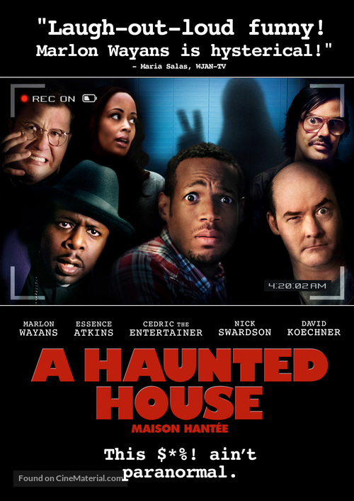 A Haunted House - Canadian DVD movie cover