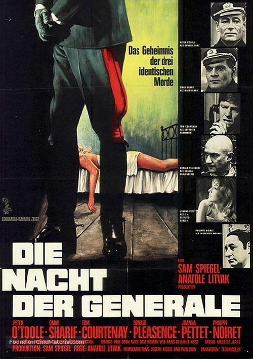 The Night of the Generals - German Movie Poster