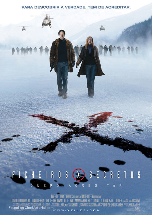 The X Files: I Want to Believe - Portuguese Movie Poster