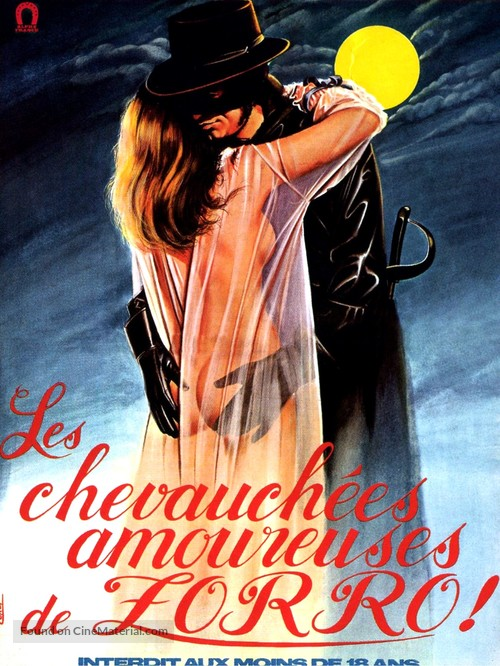 The Erotic Adventures of Zorro - French Movie Poster